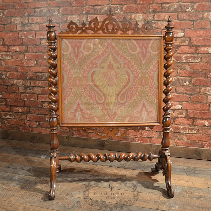 Victorian Edwardian Embroidered Fireplace Screens Phantom Empires